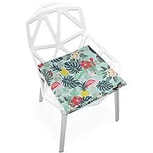 "PLAO Cushion Seat Flower Leaf Swan Cushions Soft Chair Pad Nonslip Chair Pads Cushions Home Decor for Patio Furniture Dining Room 16"" X 16"""
