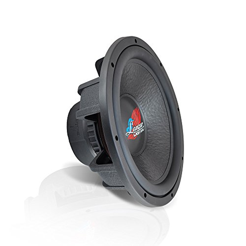 Lanzar 15 Inch Car Subwoofer - for Audio Stereo Sound Speaker System with Non-Pressed  Paper Cone, Die Cast Aluminum Basket, Dual 4 Ohm Impedance, 2000 Watt Power and Rubber Surround - DCT154D (Black)