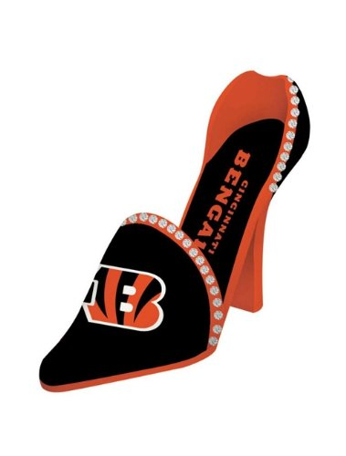 Cincinnati Bengals Decorative Wine Bottle Holder - Shoe by Hall of Fame Memorabilia