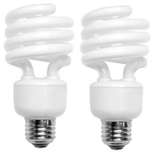 TC CFL Mini Spring A Lamp, 75W Equivalent, Daylight (5000K) Spiral Light Bulb (2 (Cfl Desk Lamp)