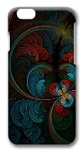 Abstract Feather Polycarbonate Hard Case Cover for iphone 6 (4.7) inch 3D