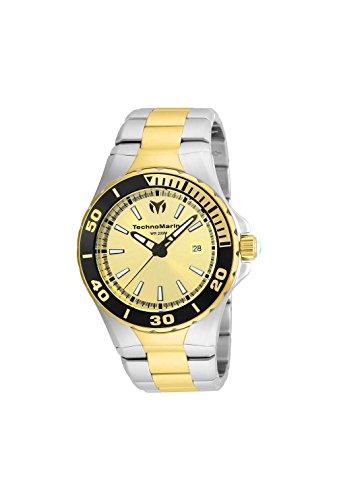 Technomarine Men's 'Manta' Quartz Stainless Steel Casual Watch, Color:Two Tone (Model: TM-215059)