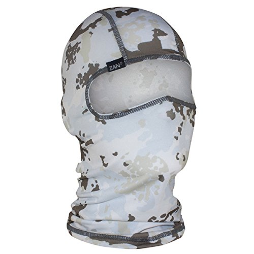 Face Mask Graphic Motorcycle (Orange Cycle Parts Winter Camo Balaclava Motorcycle ATV Quad Riding Full Face Mask by Zan Headgear WBP198)