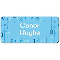 Personalized Name Labels - Cute Customized Designs for Both Babies and Kids - Great for School and Daycare - Easy-to-Apply Stickers Have a Glossy Finish – Waterproof - 48 ct. (Arrow)
