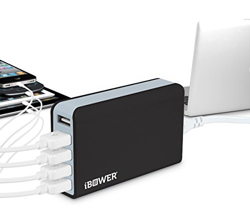 Bower 5-Port 5V / 5A USB Charging Dock by iBower
