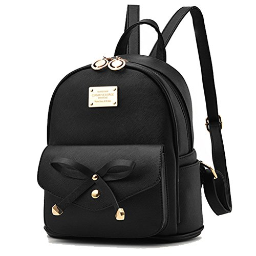 Donalworld Col10 School Bags Women PU Small Col13 Flower Print Girl Casual Leather Backpacks ZSw6Zqa