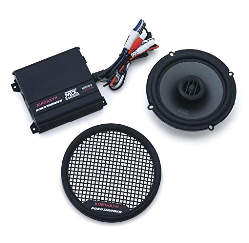 06-13 HARLEY FLHX2: Kuryakyn Road Thunder Fairing Speaker Kit (Satin Black) ()