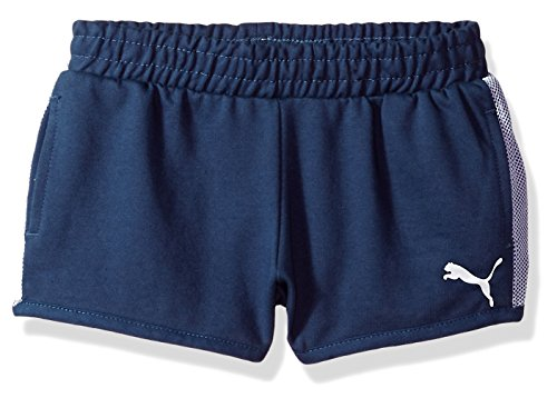 - PUMA Little Girls' Match Point Shorts, Sargasso Sea, 6