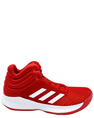 Price comparison product image adidas Unisex Pro Spark 2018 Basketball Shoe,  Scarlet / White / red,  5.5 M US Big Kid