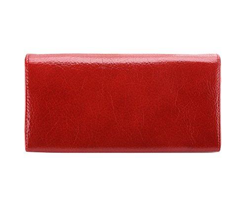 WITTCHEN portafoglio, Rosso, Dimensione: 10x18.5 cm - Materiale: Pelle di grano - 21-1-075-3