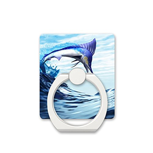 Finger Ring Stand Cell Phone Ring Holder Bracket Kickstand for Phones - Beautiful Blue Marlin