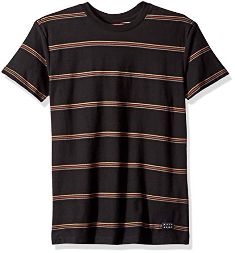(Billabong Boys' Die Cut Stripe Short Sleeve T-Shirt Black Large)