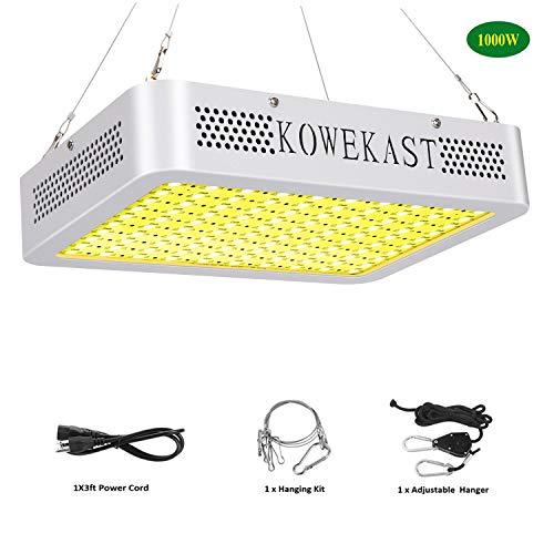KOWEKAST 1000w LED Grow Light – Sunlike Full Spectrum LED Grow Lamp for Indoor Plants Seeding Veg and Flower Commercial Planting (100Pcs 10W LEDs)