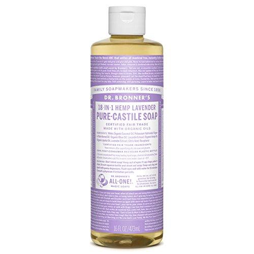 Dr. Bronner's Pure-Castile Liquid Soap (16 ounce, (Lavender Pure Castile Bar Soap)