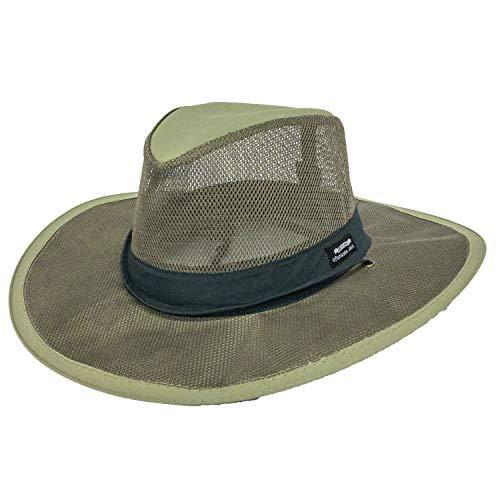 Panama Jack Hat - Mesh Safari Hat, Big Brimmed, Supplex, Sun Hat (X-Large, Fossil) ()