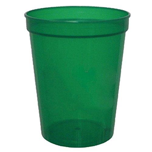 16 oz. Translucent Stadium Cups GREEN,full case of 500
