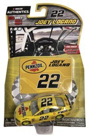 2017 Wave 9 Joey Logano #22 Pennzoil Paint Scheme 1/64 Scale Diecast Lionel NASCAR Authentics With Collector Magnet Card (Nascar Paint Diecast)