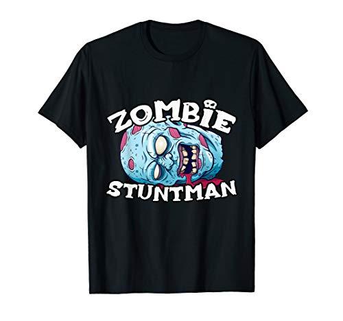 Stuntman Halloween Costume (Zombie STUNTMAN T-Shirt Halloween Simple Costume STUNTMEN)