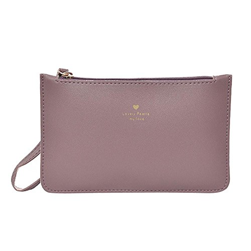 Messenger GINELO Purple Leather Fashion Bag Bags Bag wallet Women's Phone Handbag Coin xfw1vAt