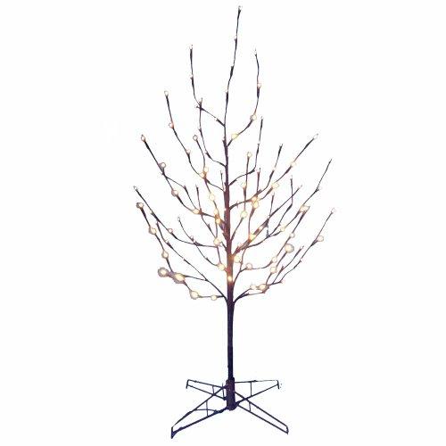 Kurt Adler 4-Feet Twig Tree with White LED Lights