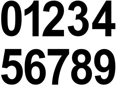 9 Ideali per esterni in quanto impermeabili e resistenti alle intemperie. Numeri adesivi 4 cm di altezza numeri e numeri autoadesivi 0 in giallo neon 101 numeri adesivi