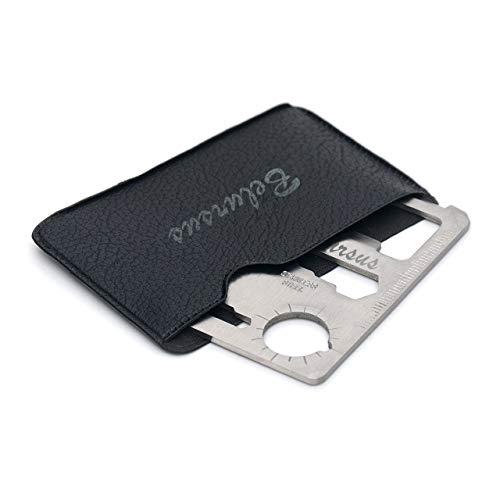 MensHelper 11-Tools-in-1 / Multipurpose Silver Beer Bottle Opener/Portable Wallet Pocket Size/Gifts for Men (1-Pack)