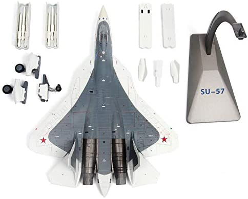 Modelvliegtuig, schaal 1/72 Su-57 Russian Attack Plane, Metal Fighter Military Model, Diecast Plane Model, for Commemorate Collection of Kids Birthday gift