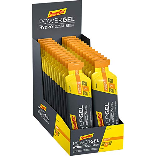 PowerBar PowerGel Hydro Orange 24x67ml - High Carb Energie Gel + C2MAX Magnesium und Natrium