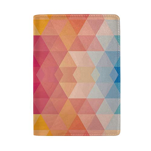 Passport Holder Perfect Geometric Patterns Passport Cover Case Wallet Card Storage Organizer for Men Women Kids (Fender Passport Cover)