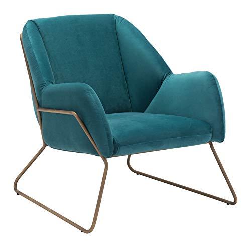 Zuo 101155 Arm Chair Green Velvet