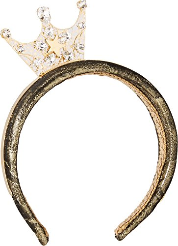 Dolce & Gabbana Kids Girl's Crown Headband (Little Kids/Big Kids) Gold One Size Dolce Gabbana Bands