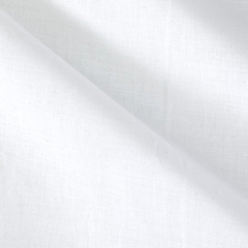 Fabric Cotton Lawn White by The Yard, White -