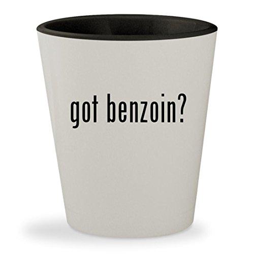 got benzoin? - White Outer & Black Inner Ceramic 1.5oz Shot Glass