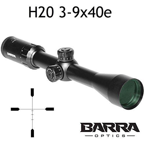 Barra Rifle Scope, BDC Reticle Capped Turrets for Hunting Shooting Precision Deer Hog Venison Varmint (H20 3-9x40e)