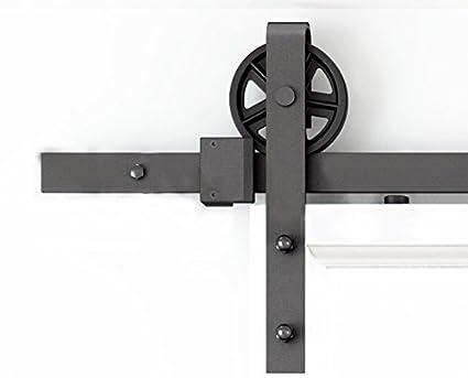 Amazon Diyhd 5ft Industrial Wheel Sliding Barn Wood Door