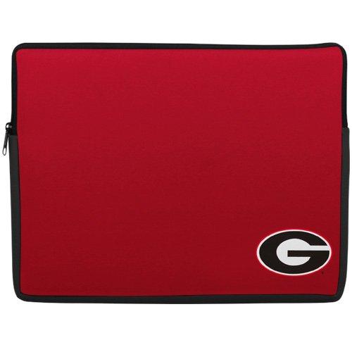 NCAA Georgia Bulldogs 15'' Laptop Sleeve - Red Laptop Sleeve Football