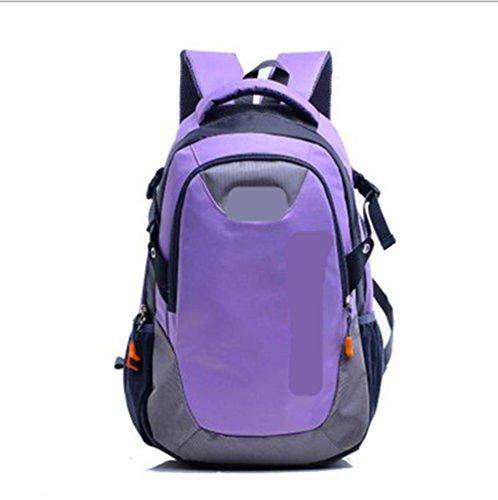 Xiuxiandianju Deportes al aire libre de 20L - 35L mochila descarga de hombres y mujeres a caballo/senderismo mochila de senderismo , light blue Purple