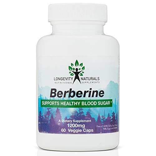 100% Non-GMO Berberine HCL Complex Supplement – Supports Gut, Heart, and Immune System Health- Harvested in The Himalayas, Helps Regulate Blood Sugar & Cholesterol, 100% Free of Additives & Allergens