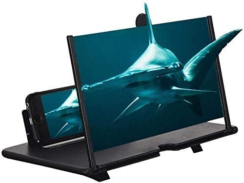 Peedeu 3d telefoon scherm vergrootglas versterker vergroterOpgewaardeerd 12 Inch HD mobiele telefoon scherm versterkerAntistraling Smart Phone scherm vergroten met opvouwbare standaard houder draagbaar voor alle smartphone