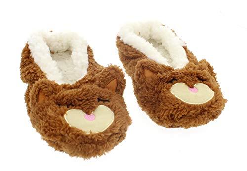 Cute Animal Slippers for Women,Fuzzy Slipper Socks Ballerina,Funny House Shoes Fox Women