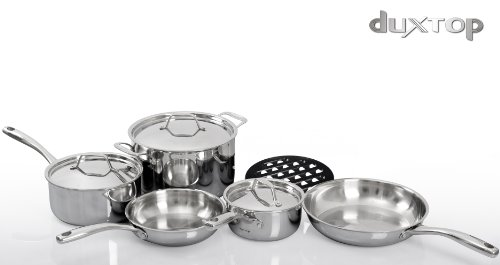 Duxtop SSC-9PC 9 Piece Whole-Clad Tri-Ply Induction Cookware, Stainless Steel by Duxtop (Image #5)