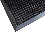 Finger Tip Super Scraping Mat - Solid Rubber - 32'' x 39''