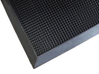 Finger Tip Super Scraping Mat - Solid Rubber - 36'' x 72''