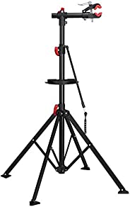 """Yaheetech Adjustable 52"""" to 75"""" Pro Bike Repair Stand w/Telescopic Arm & Balancing Pole Cycl"""