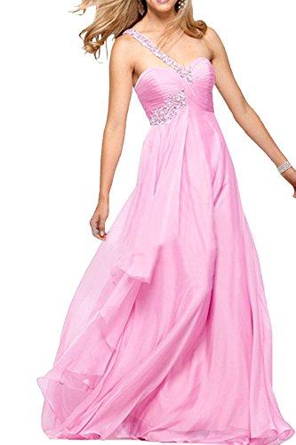 Damen La Traeger Rosa Partykleider Rock EIN Braut Linie bodenlang A Chiffon Abendkleider mia Jugendweihe Kleider 1qqw4