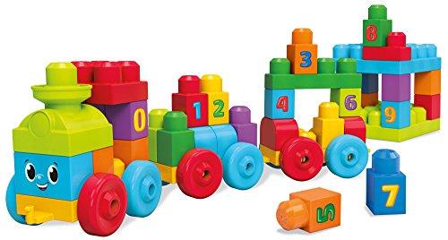 Mattel Mega Bloks DKX60 - Bauklötze, 123 Lernzug