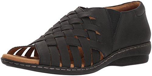 NATURAL SOUL Women's Baye Flat Sandal, Black, M US