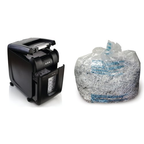 Bundle: Stack-and-Shred 200x Shredder and Plastic Bags by Swingline