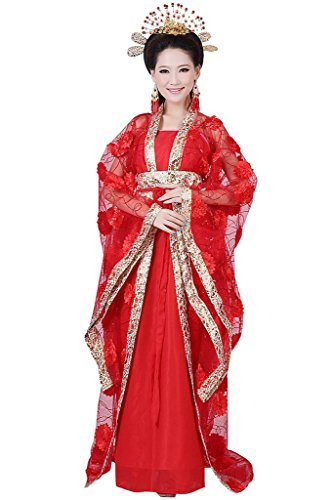 springcos Chinese Costume Fancy Dress Women Princess Dress Trailing Empress (Chinese Lady Costume)