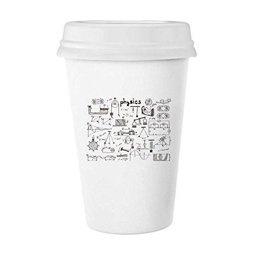 グリーン物理電磁力学チャート図クラシックマグホワイト陶器セラミックカップミルクコーヒーカップギフト350 ml   B06XY2D8RT